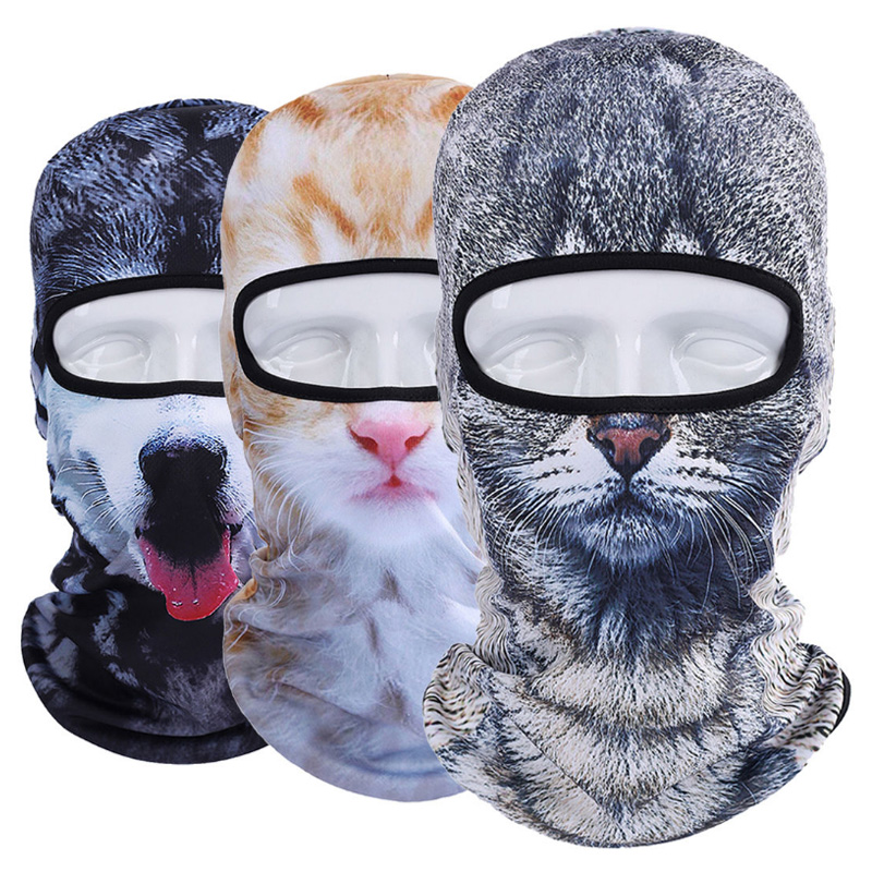 Winter 3D Animal Full Face Masks Fashion Outdoor Bicycle Mask Ski Cap Veil Winter Balaclava Mask UV Mask Hat Drop Shipping