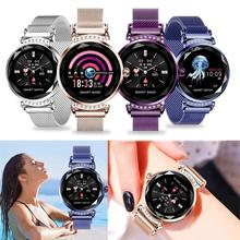 Women Smart Watch, 2019 New Luxury Fitness Bracelet Blood Pressure Heart Rate Monitoring Wristband Lady Watch Gift