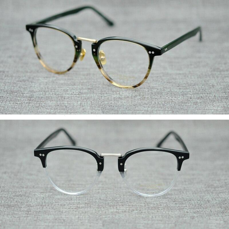 2018 New Arrival Oliver Peoples Eyeglasses Frames Men Women OV5224 High Quality Round Vintage Glasses Optical Computer Eyewear