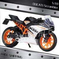 1:18 Schaal Nieuwe 2014 KTM RC 390 Metal Diecast Model Motorrijwiel Racing Cars MotoGP Kids Jongens Voertuig Collection