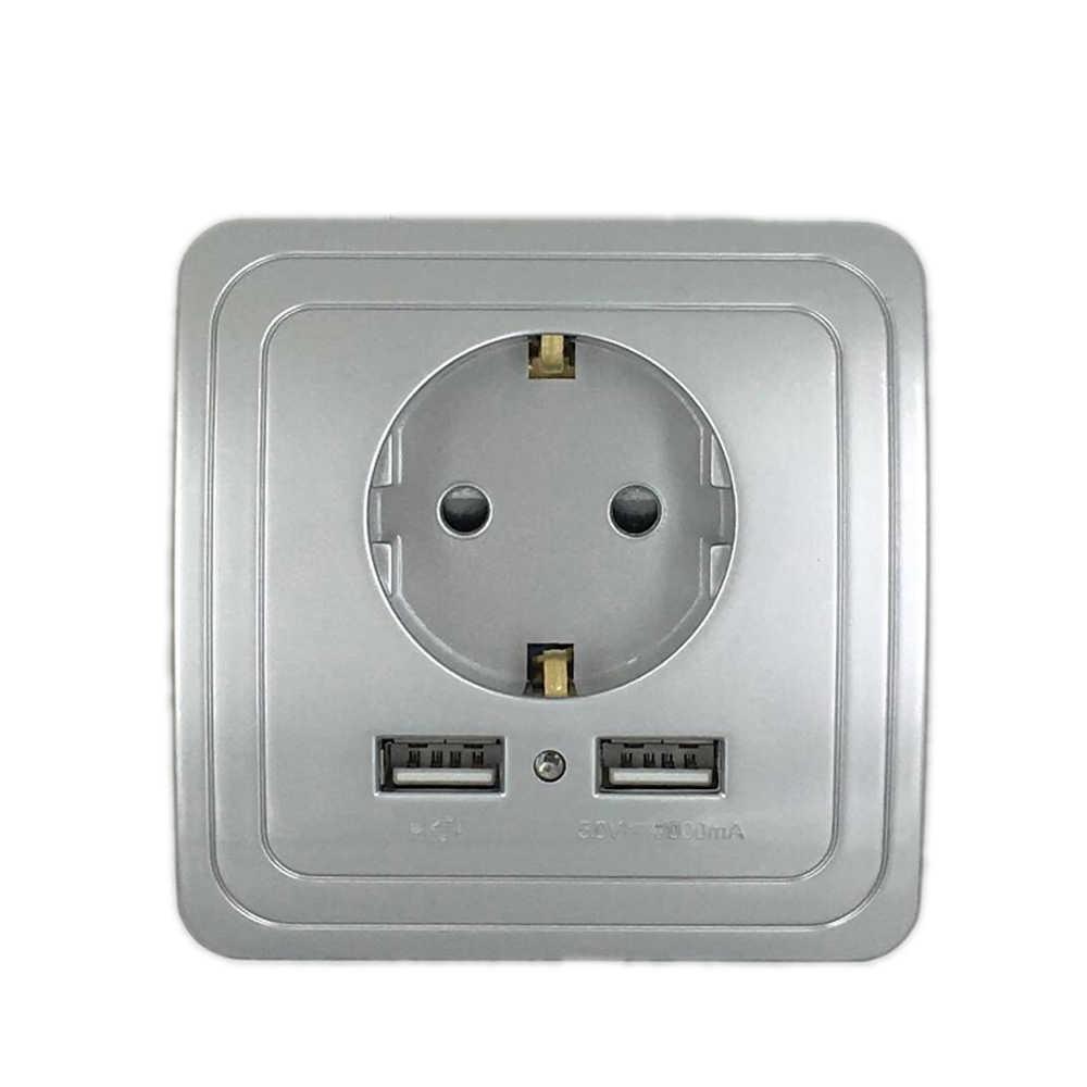 Double Port USB 2000ma, 110 à 250V, meilleur adaptateur mural mural, normes ue, prise de courant, vente en gros