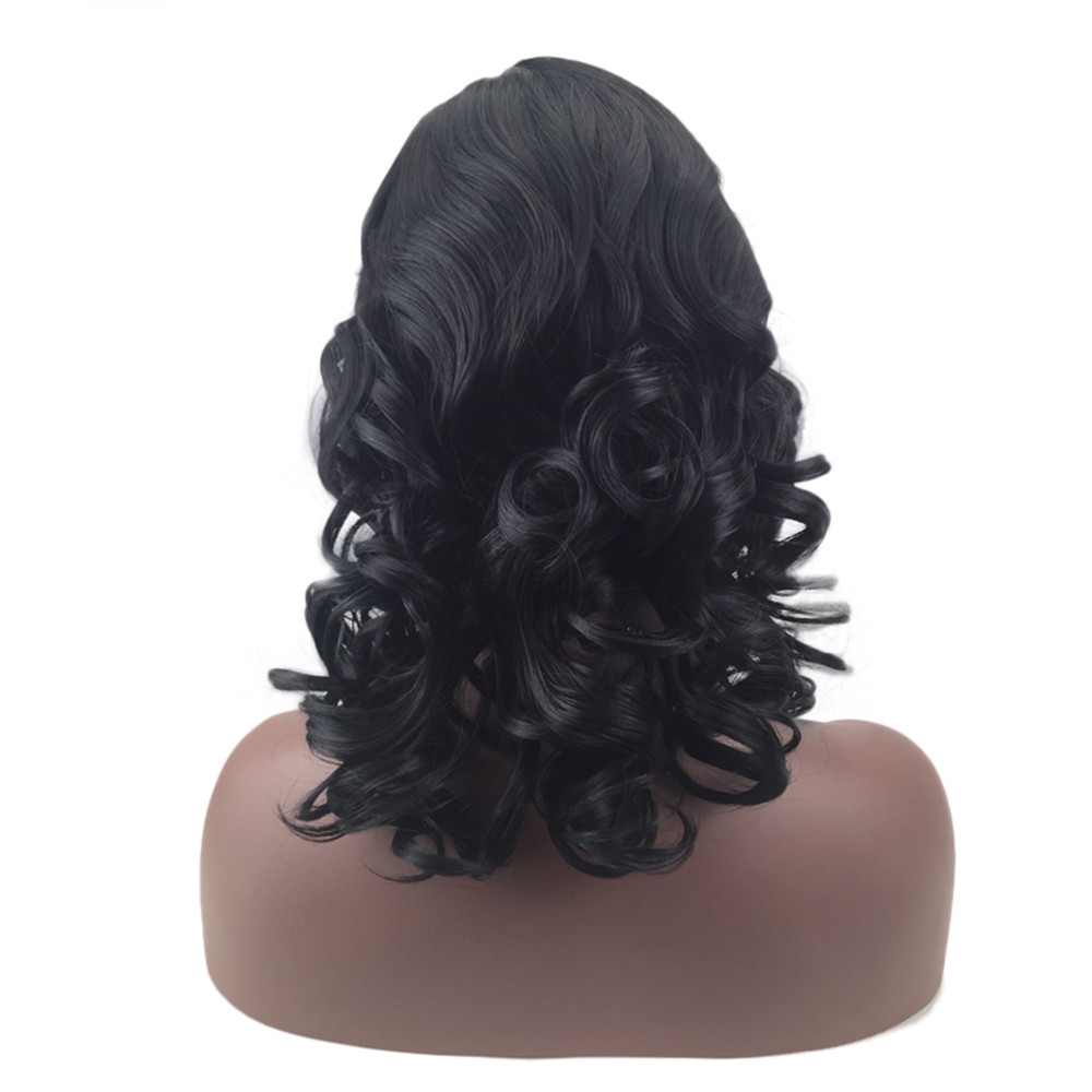 Fashion Womens Sexy Full Bangs wigs for black women Short Wig Small Volume Wig short body wave wigs front lace 6423A