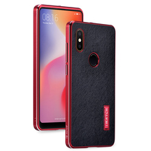 Original Imatch Cross Genuine Leather Cover Aluminum Metal Bumper Case For Xiaomi Mi Mix 2s Mix2s Luxury Hard Shockproof