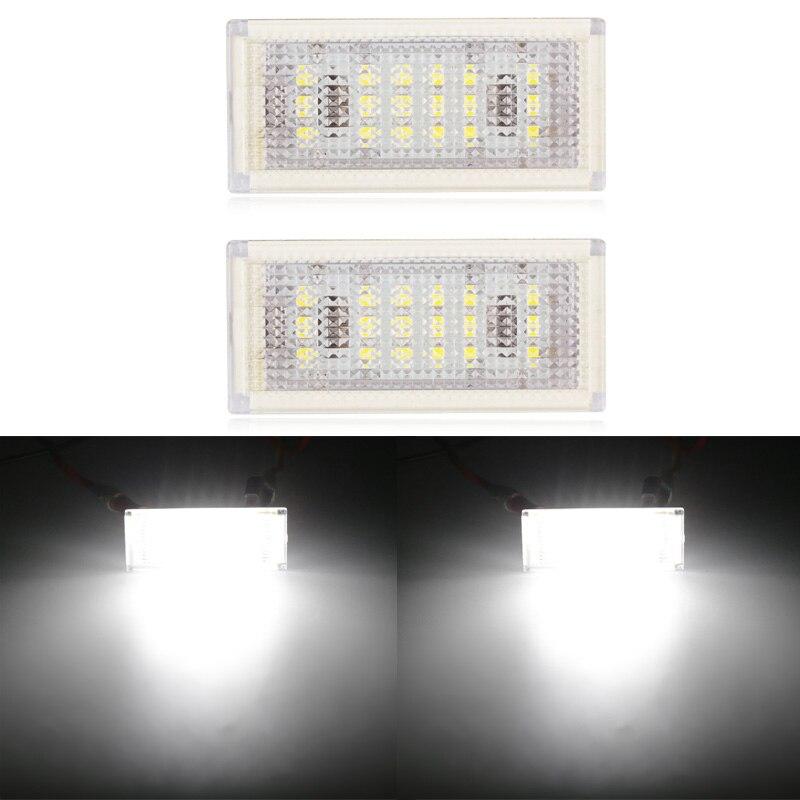 Urbanroad 1 Pair 18 LED License Plate Light for BMW E46 2D / M3 facelift 04-06 12V 6000k White License Plate Light for BMW 2 x led number license plate lamps obc error free 18 led license plate light for bmw e53 x5 x3 before facelift