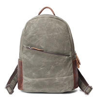 Men & Women Gray Canvas Backpack Student School Bags For Teenager Girls And Boy Travel Back Pack Rucksack Bagpack Schoolbag H032