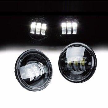 2PCS 12 V 4.5 Inch LED fog light White LED Auxiliary Spot Fog Lighting Onlly Passing Light Lamp For Motorcycle