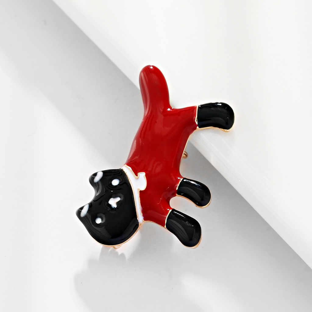 Signore di Arte del Panno di Lusso Animale Uccello Spilla di Modo di Cristallo Multicolore del cane Libellula Spilla di Rame Retro Y610