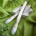 New! бесплатная Доставка Белый Смола Свадебный Торт Нож, Предлагающий Набор Пляж Свадебные Украшения Стола Торт Ножом и Лопатой Праздничные Атрибуты