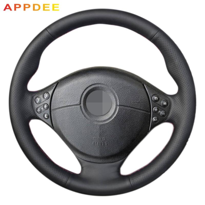 цена на AppDee Black Artificial Leather Car Steering Wheel Cover for BMW E39 5 Series 1999-2003 E46 3 Series 1999-2005 E53 X5 E36 Z3