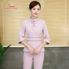 New beauty salon technician work clothes beautician autumn and winter female professional suit trousers slim