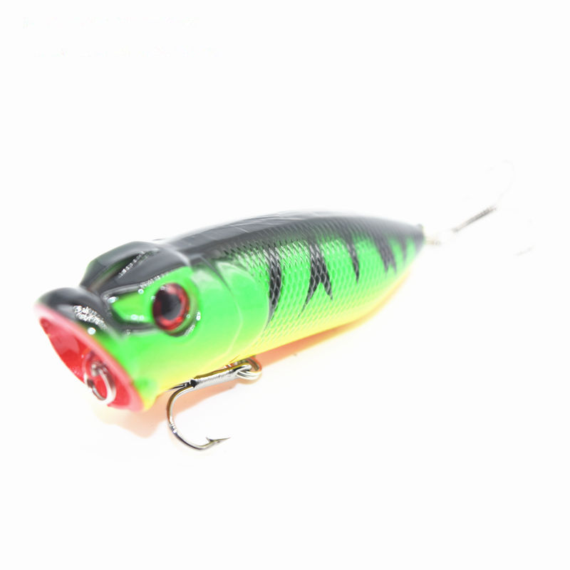 6.5CM 11G Big Popper Fishing Lures 3d Eyes Bait Crankbait Wobblers Tackle Isca Poper Japan Wobbler Hand Lure Free shipping fishing lures big hard lure popper wobblers fishing tackle 3d eyes abs bait crankbait isca with hooks 10 colors 1pcs