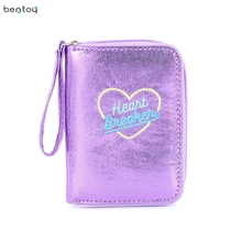 Bentoy Hologram Wallet Women Girl's Wallets Purse Small Day Clutches Short Holographic ID Bank Card Holders Coin Purse Money Bag