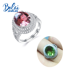 цены Bolaijewelry, color change diaspore ring 925 sterling sliver created gemstone elegant design fine jewelry for woman daily wear