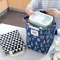Novo Criativo saco de algodão pequenos sacos de detritos de armazenamento de lona saco térmico piquenique refrigerador lancheira saco do piquenique bloco de Gelo à prova d' água