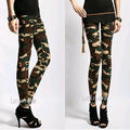 Sexy Ladies Camouflage Army Print Stretch Jeggings Pants Leggings Trousers