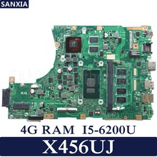 KEFU X456UJ Laptop motherboard for ASUS X456UJ X456UQ X456UB A456U X456U Test original mainboard 4G RAM I5-6200U GT920M