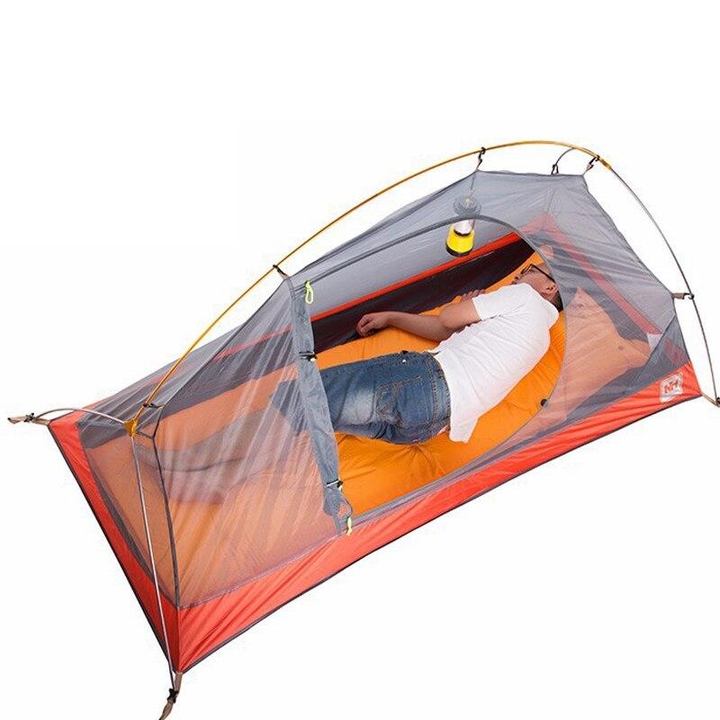 Nature randonnée vélo sac à dos tente ultralégère 20D/210 T pour 1 personne NH18A095-D - 5