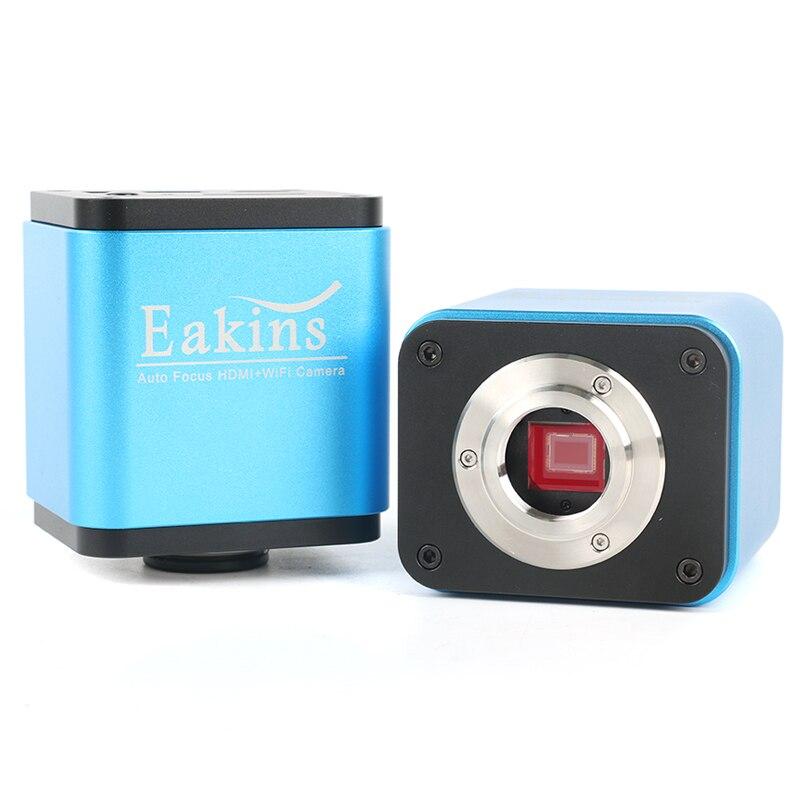 Messa a fuoco automatica 1080 p HD HDMI WIFI del Settore Video Microscopio Della Macchina Fotografica di SONY IMX185 IMX178 SD Card Microscopio Biologico Stereo Microscop