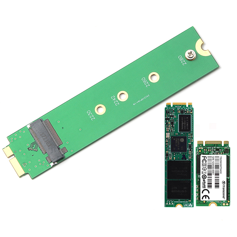 M.2 NGFF SSD to A1369 A1370 <font><b>Adapter</b></font> for 2010 2011 <font><b>MacBook</b></font> Air <font><b>M2</b></font> SSD Converter Card Suppor 2230 2242 2260 2280 Solid State Drive image