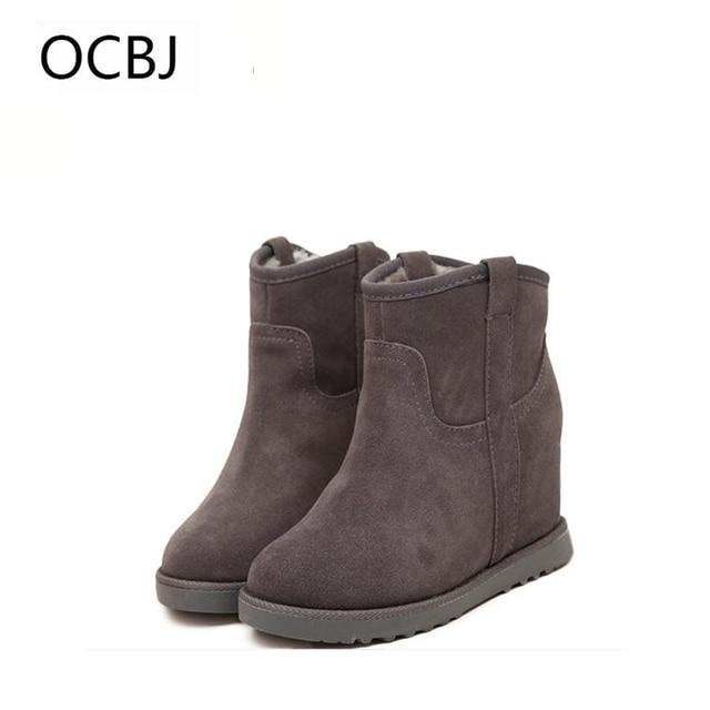 Aliexpress.com : Buy Fur Leather Boots Women Winter Warm Cotton ...