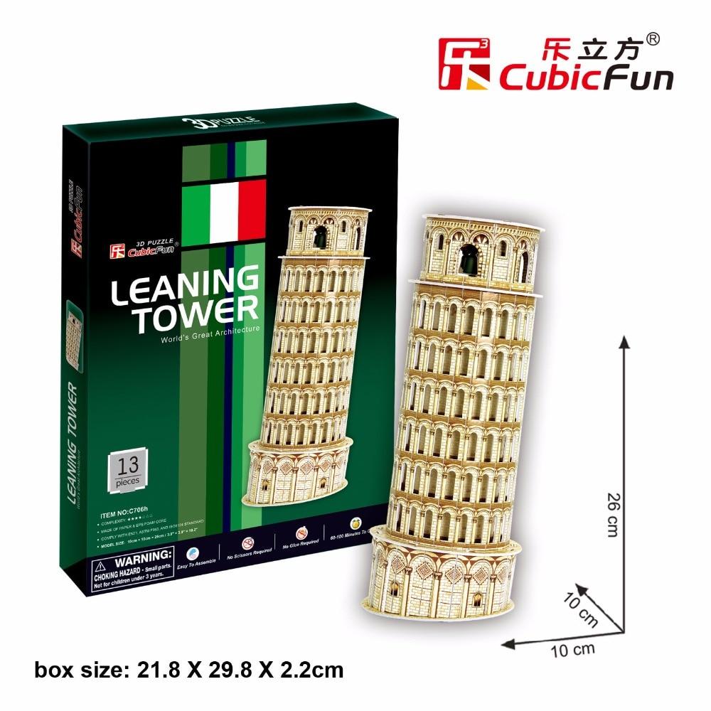 CubicFun 3D пазл легко Италия Пизанская башня здания известный архитектура собраны модели Обучающие игрушка в подарок