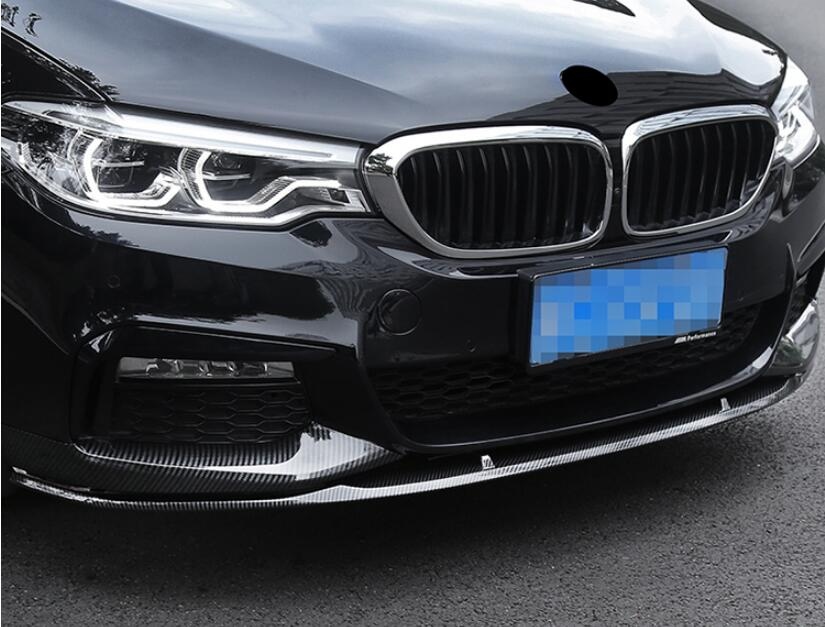 JIOYNG 3 шт. ABS краска автомобиля передняя губа спойлер и сплиттер Обложка для BMW G30 G31 G38 5 серии 2017 2018 2019 BY EMS