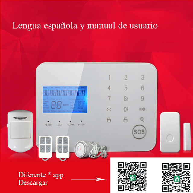GZGMET 2017 Latest Design Touch Panel 99 Wireless Zones Home Security SYSTEM  Consola Keypad App For
