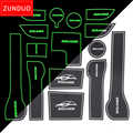ZUNDUO ประตูถ้วยสำหรับ 2017-2019 Hyundai Solaris 2 ประตู/ถ้วยเสื่อฝุ่น Coaster Coaster non-SLIP สีแดง/สีฟ้า/สีขาว 15 PCS