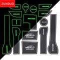 ZUNDUO Tor slot matten Für 2017 Hyundai Solaris 2 Innen Tür Pad/Tasse Staub matten Wasser Bahn Nicht- slip rot/blau/weiß 15 stücke
