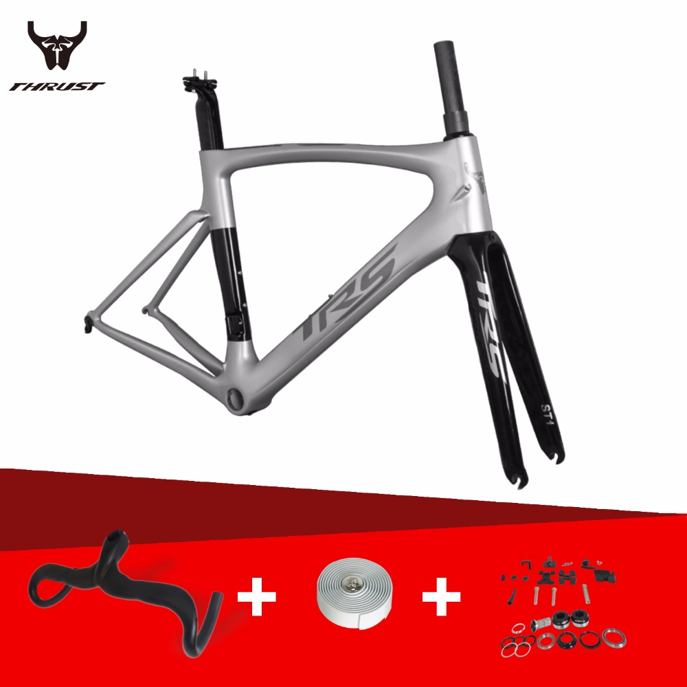 THRUST Carbon Road Frame 2017 Carbon Bike Frame Toray T800 UD intergrated 700c Road Bicycle Carbon Frame+Fork+Seatpost