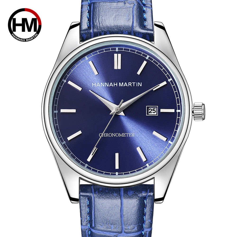 все цены на Hannah Martin Men's Watches Top Brand Luxury Wrist Watch Men Watch Auto Date Men's Watch Clock reloj hombre relogio masculino онлайн