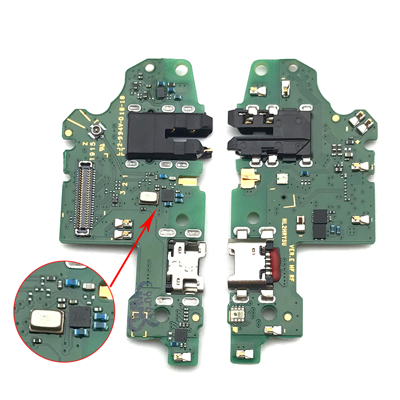 10Pcs/lot USB Charging Charger Port Dock Connector Flex With Microphone Flex Cable Replacement For Huawei P Smart 2019