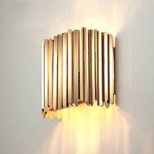 Краткое дизайн настенный светильник из нержавеющей стали современный домашний деко аппликация murale светодиодный бра lights