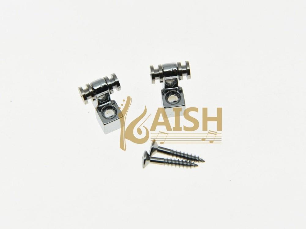 KAISH 2x Guitar String Retainer Guitar Roller String Trees Chrome