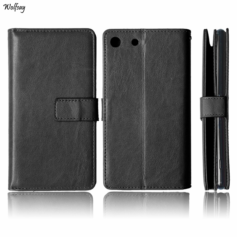 Business Case For Sony Xperia M5 Cover Phone Wallet Flip PU Leather & TPU Case For Sony M5 E5603 Fundas Photo Frame Phone Coque