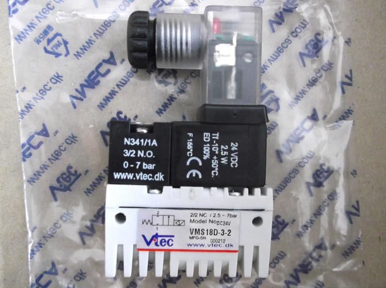 VTEC Vacuum solenoid valve VMS18D-3-3 (G1/8 DC24V) 3924450 2001es 12 fuel shutdown solenoid valve for cummins hitachi