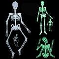1 ШТ. 150 см и 90 см Хэллоуин дом с привидениями бар сцена макет реквизит пластиковые световой череп скелета, Herror те трюк игрушки