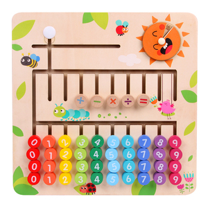 Image 2 - JaheerToy Wooden Math Toys for Children Montessori Materials Learning To Count Numbers Early Mathematics Education for Babies