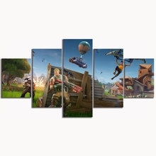 HD canvas printed painting 5 piece wall art Framework Fortnite Home decor Poster Picture For Living Room YK-1152