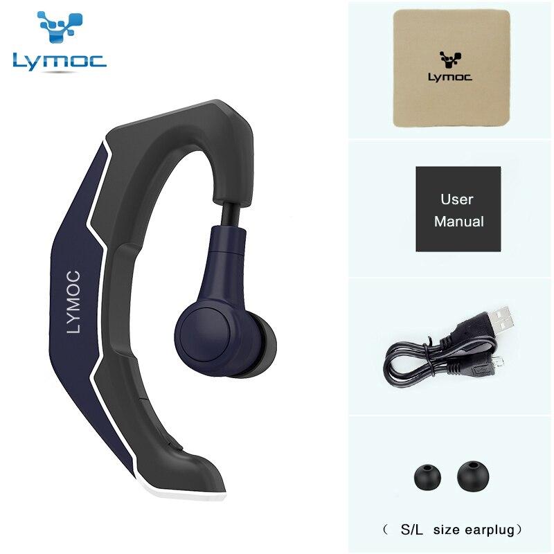 LYMOC Crochet D'oreille Sans Fil Casques Bluetooth Écouteurs Conduite Tour de Travail Sport Intra-auriculaires Mains Libres Casque Universel pour iPhone