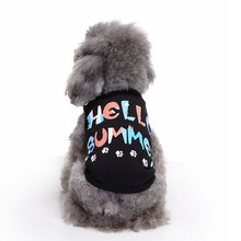 Hellomoon 1pc Fashion Summer Cute Dog Pet Vest Puppy Printed Cotton T Shirt Clothes For Dogs Free Shipping