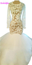 2018 sexy elegant African long evening gowns mermaid tulle with lace dresses length appliques white prom dress
