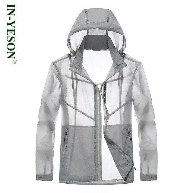 898a3a83d Translúcido IN-YESON marca blusão fino casaco protetor solar à prova d   água de