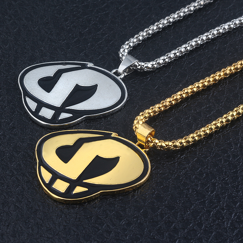 fashion jewelry 2 Colors Sun and Moon Team Skull Grunts Game Hip hop Steampunk Chain Necklace For men creative gifts(China)