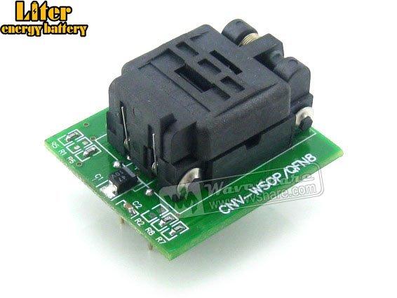QFN8 à DIP8 IC prise de Test adaptateur de programmation QFN8 MLF8 MLP8 paquet Plastronics 08QN12T16050 prise 1.27mm pas