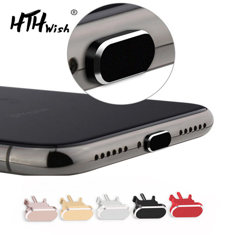 Metal Dust plug Charging Port Dust Plug for iPhone 8 7 6 6S Plus Mini Dust Plug For iPhone 5 5s SE Phone Accessories