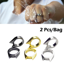 2 PCS/Bag Outdoor Stainless Steel Cat Ears Single Refers Sel