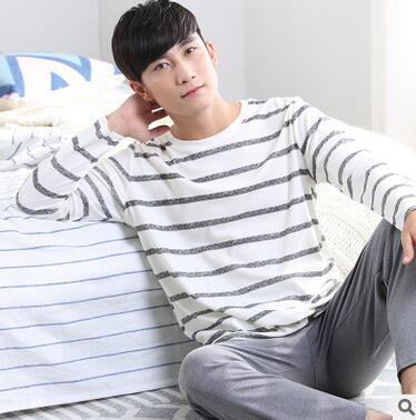 Материал хлопок человек пижамы наборы хлопок человек пижамы мужчин пижамы D14