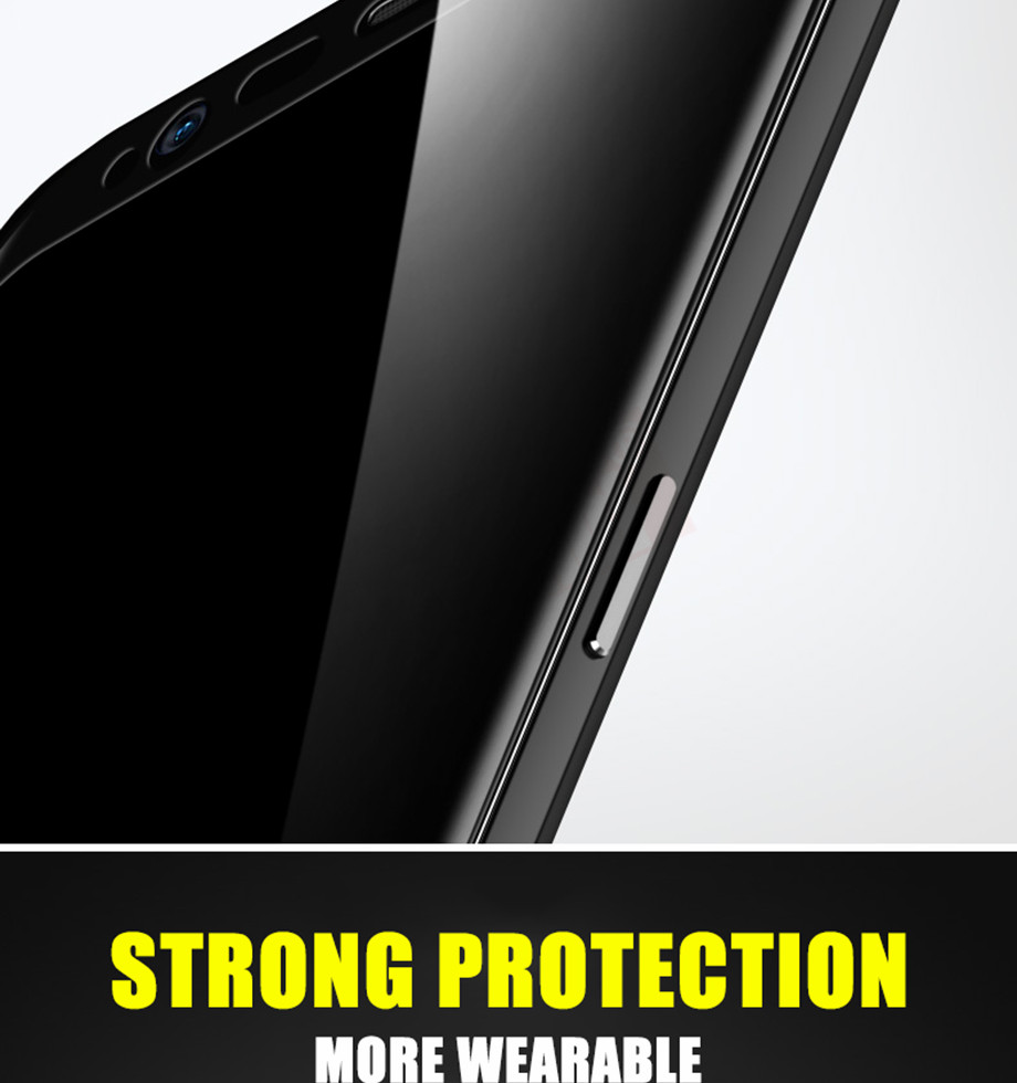 4-PC-For Samsung Galaxy S8 Tempered Glass For Samsung Note 8 S9 Screen Protector Film