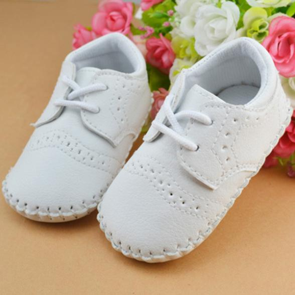 Cute Baby Boys Girls First Walker Faux Leather Soft Sole Toddler Shoe 0-12M